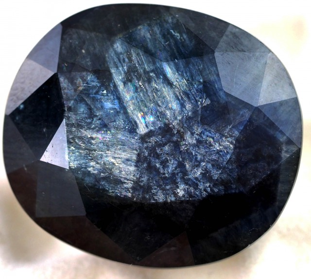 43.15 CTS NATURAL OVAL SAPPHIRE TRAPICHE SHILLER EFFECT [STS570]