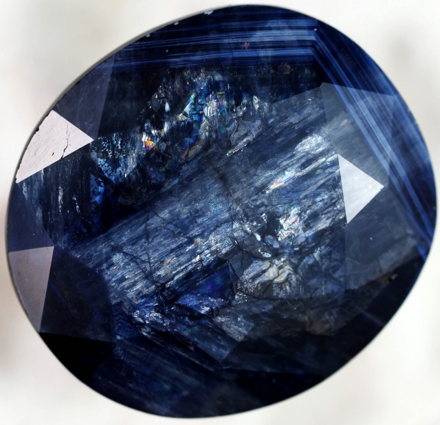 40.80 CTS NATURAL OVAL SAPPHIRE-SHILLER EFFECT  [STS571]