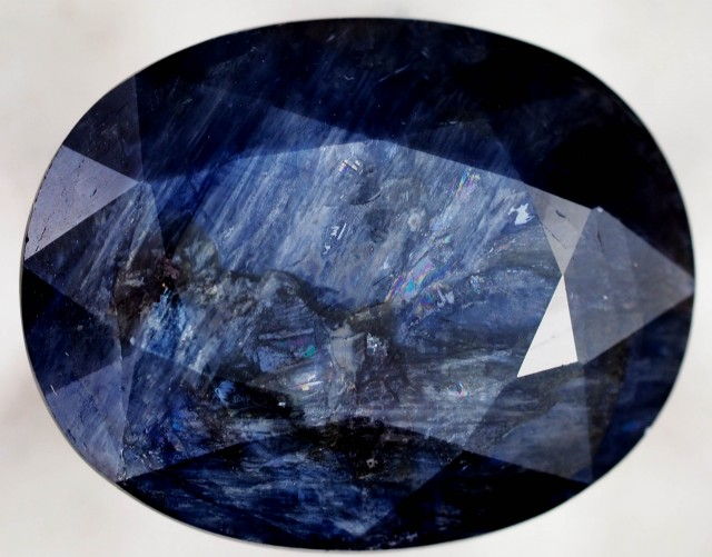 19.95 CTS NATURAL OVAL SAPPHIRE SHILLER EFFECT [STS574]