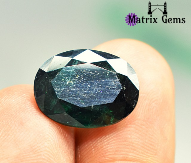 8.10 carats Superb !! BIG Tourmaline Dark Green Oval Cut Stone Specially fo