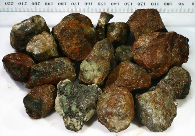 386g  Chiastolite specimens for cutting cross patterns PPP63