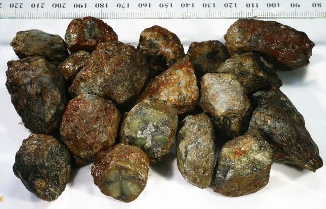 351  Chiastolite specimens for cutting cross patterns PPP66