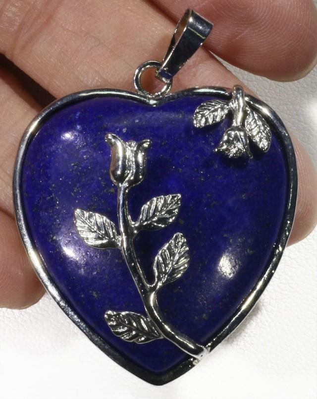 85cts Heart Shape lapis lazuli pendant PPP1200