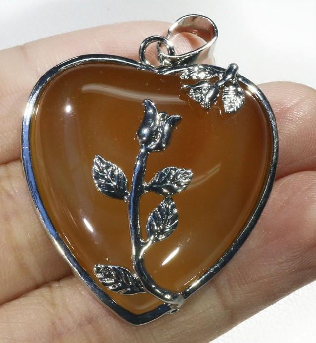85cts Carnelium heart pendant PPP1213