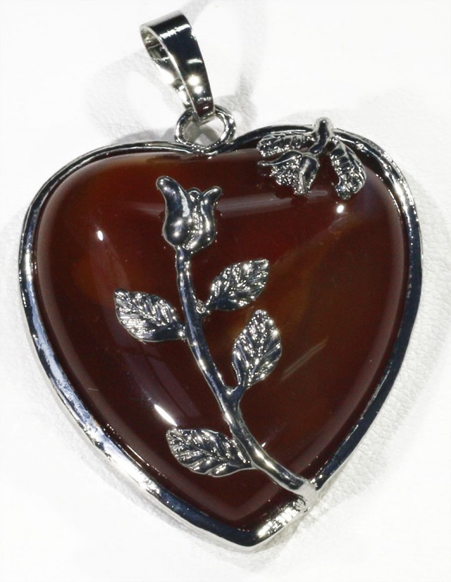 85cts Carnelium heart pendant PPP1219
