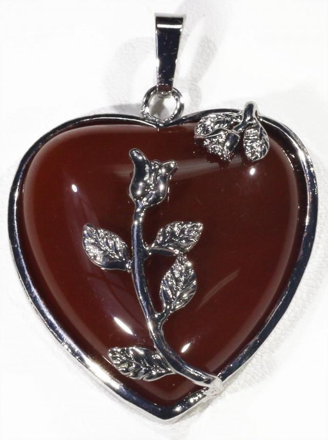 85cts Carnelium heart pendant PPP1220