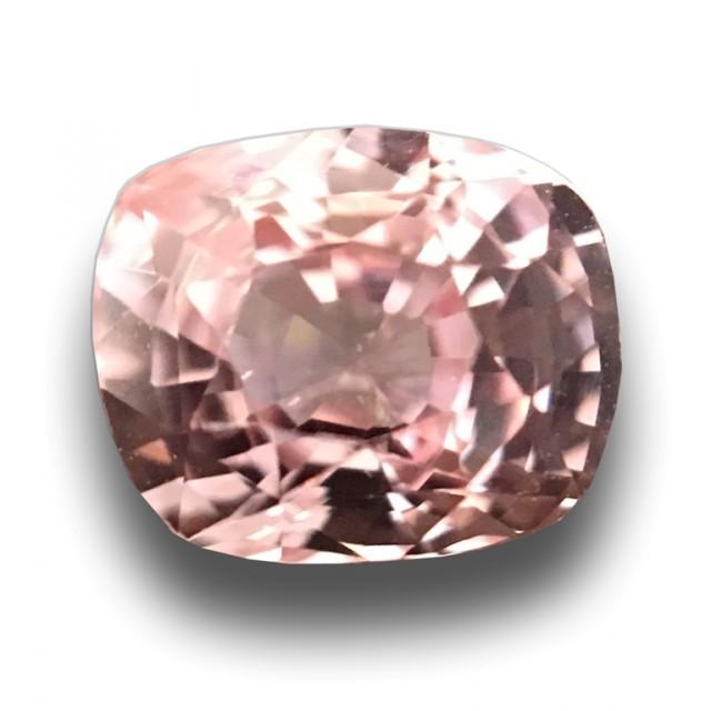 1.06 Carats Natural Pink Orange Sapphire |Loose Gemstone|New Certified| Sri