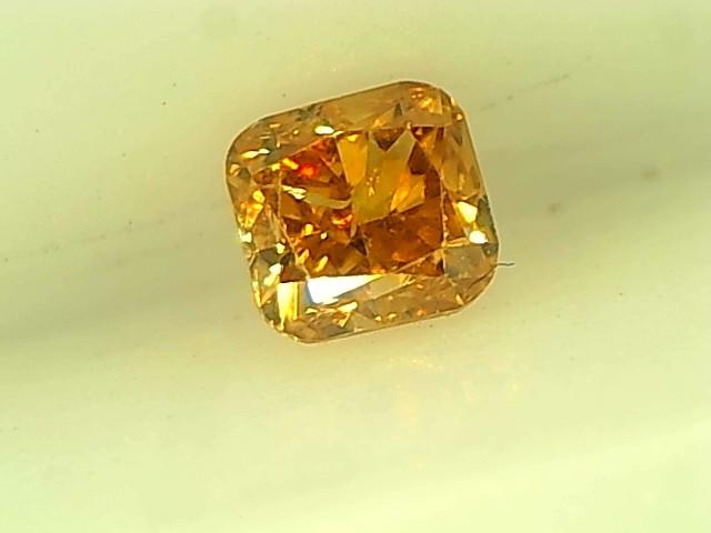 0.16cts Fancy Vivid Orange Diamond , 100% Natural Untreated