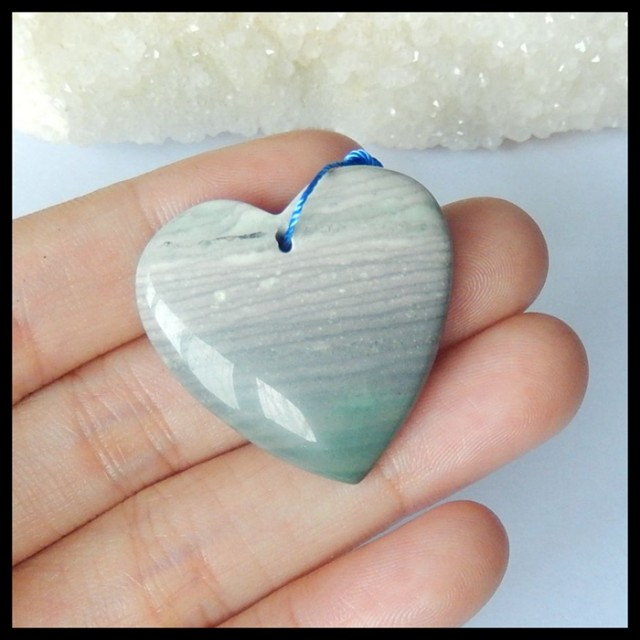 Natural Wave Jasper Heart Pendant,30x29x7mm,45.5ct(17042007)