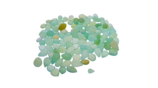 646.5 cts 118 beads Seafoam Green Chalcedony Bead Lot