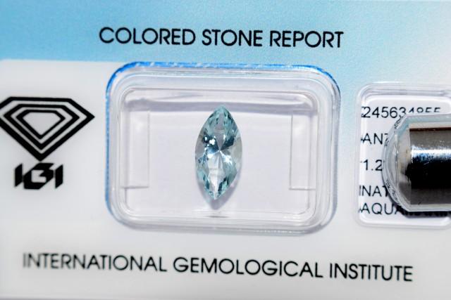 IGI Certified - 1.25Cts - Natural Aquamarine