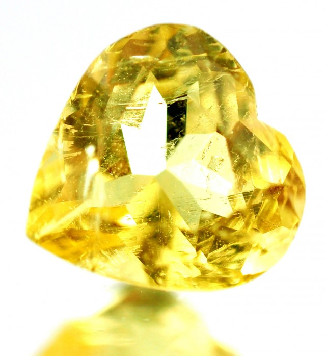 0.75 CTS -CERTIFIED  NATURAL YELLOW BERYL - HELIODOR [SAP488]
