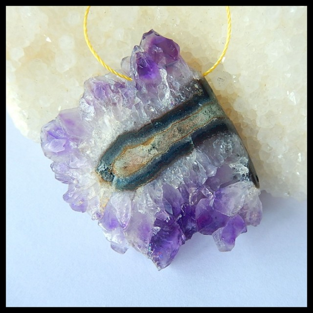 Natural Amethyst Nugget Pendant,Rough Stone,49x48x8mm,108ct(17042408)