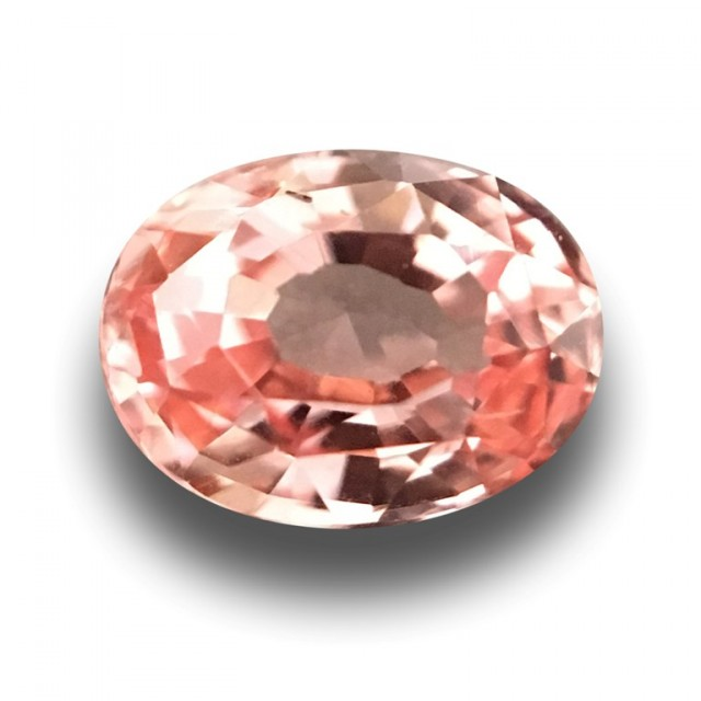 0.63 Carats | Natural Unheated Orange Pink Sapphire | Loose Gemstone | New