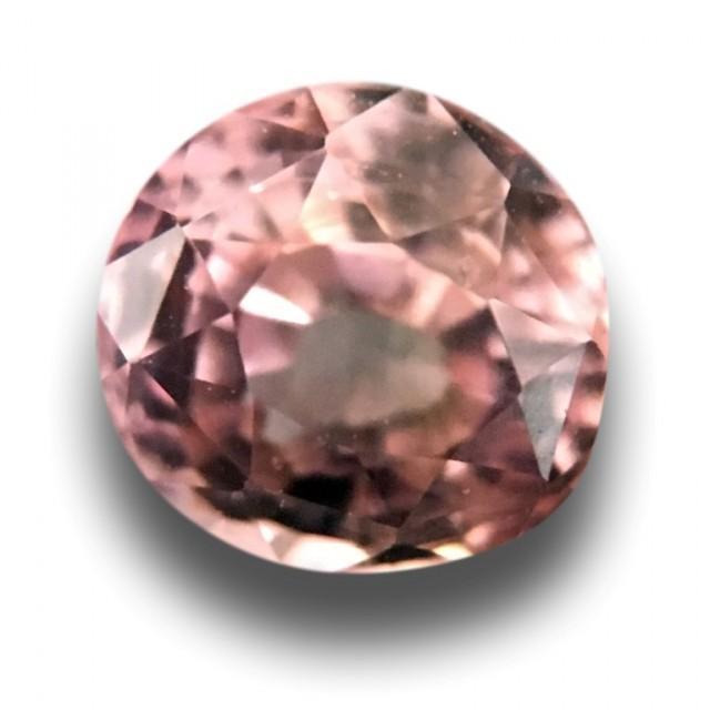 0.95 CTS   Natural Light Orange Pink sapphire  Loose Gemstone New  Sri Lank