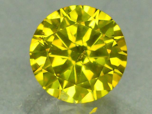 0.75 ct Natural Yellow Diamond Round Brilliant Cut