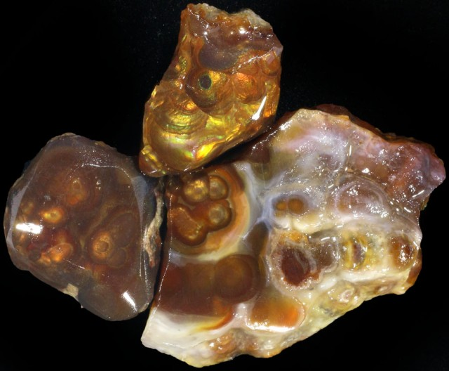 115.00 CTS FIRE AGATE ROUGH PARCEL DEAL [F6986]