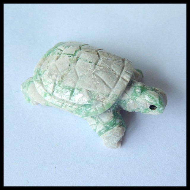 Natural Turquoise Handcarving Turtle Cabochon,37x23x13mm,57ct(17042606)