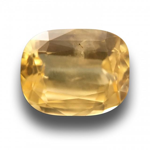 2.06 CTS | Natural Yellow Sapphire |Certified | Loose Gemstone | Sri Lanka