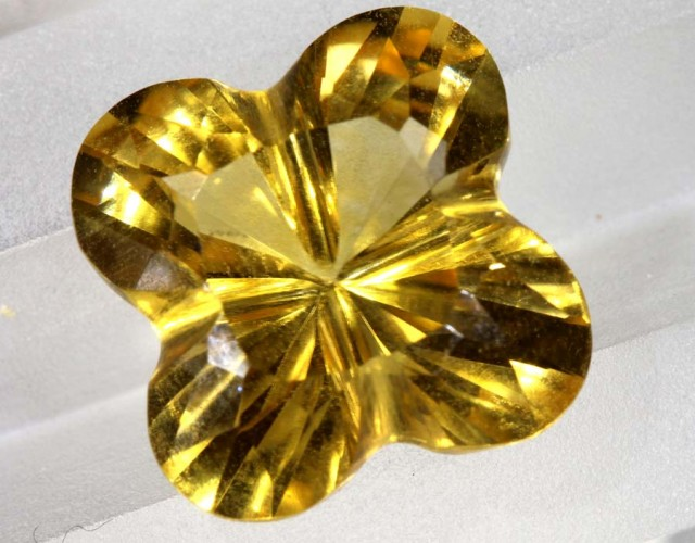 6CTS CITRINE CARVING FLOWER STONE LT-794