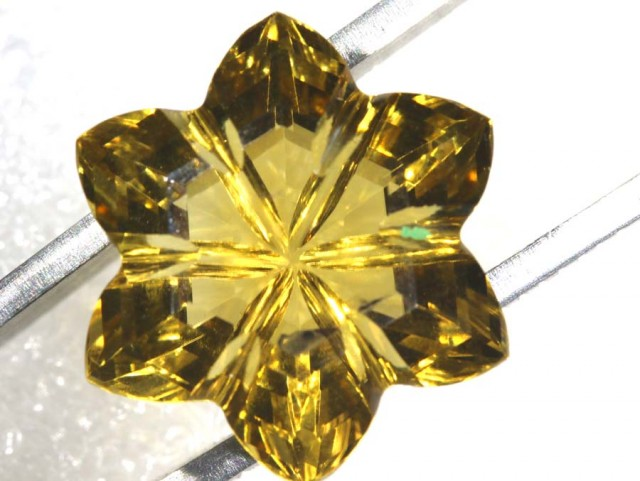16.8CTS CITRINE CARVING FLOWER STONE LT-800