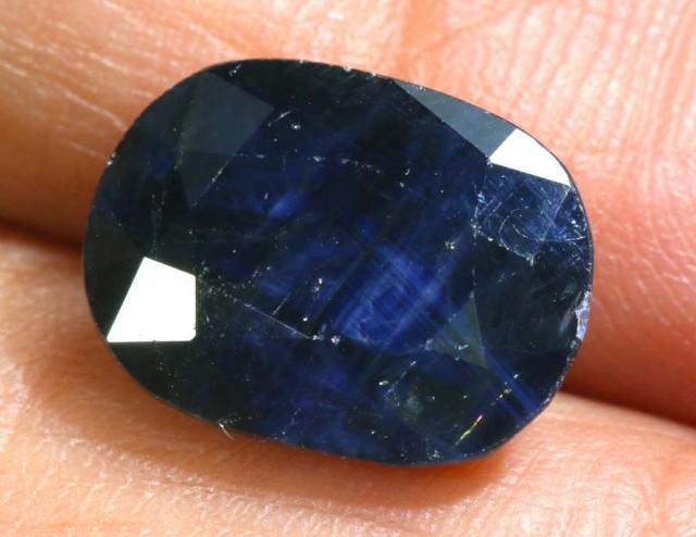 6.3CTS AUSTRALIAN DARK BLUE SAPPHIRE FACETED PG-2102