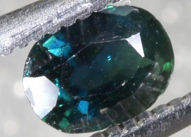 0.60CTS AUSTRALIAN  DARK BLUE SAPPHIRE FACETED PG-2108