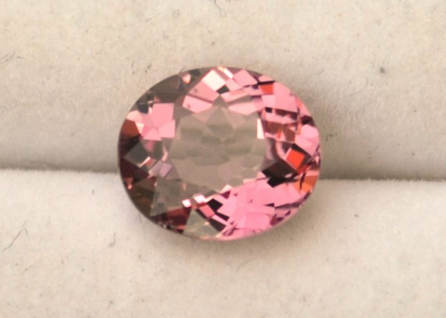 1.32 Carat Very Fine Oval Cut Bubblegum Pink Tourmaline