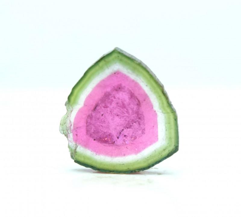 7.60 cts Super Quality Complete Watermelon Tourmaline Slice
