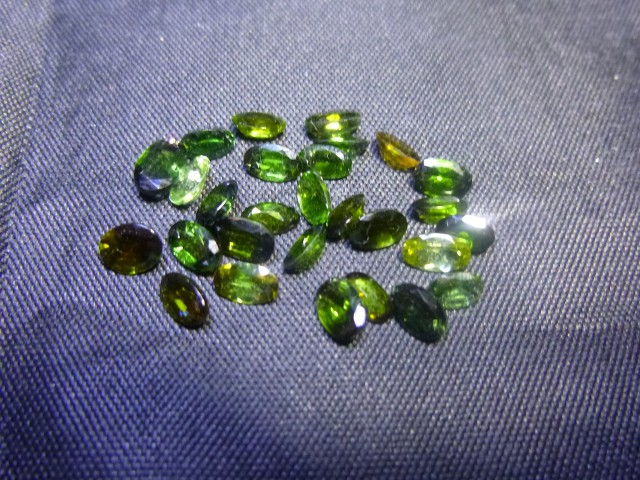 6.85ct Chrome Tourmaline Parcel, 100% Natural Gemstone