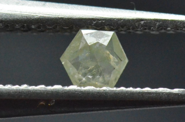 3.6mm 0.125ct Yellow Hexagon rose cut Diamond