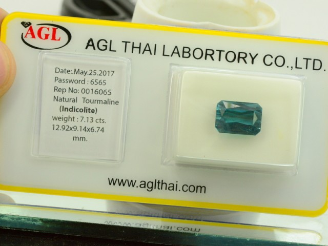AGL Certified Untreated Natural Indicolite Tourmaline from Afghanistan