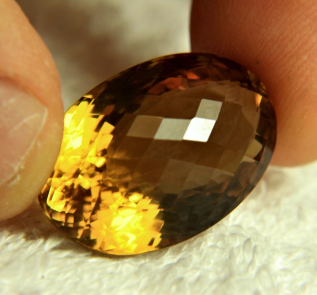 35.32 Carat VVS Golden Brazil Citrine - Beautiful
