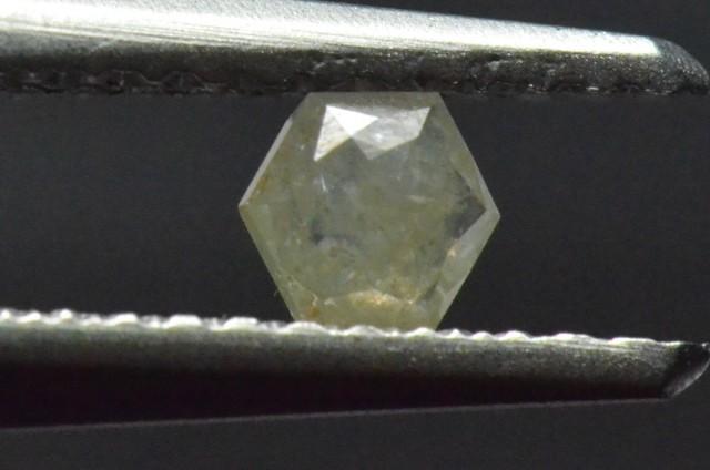 3.85mm 0.205ct Silver White Hexagon rose cut Diamond