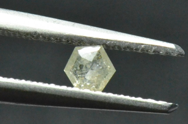3.8mm 0.16ct Silver White Hexagon rose cut Diamond