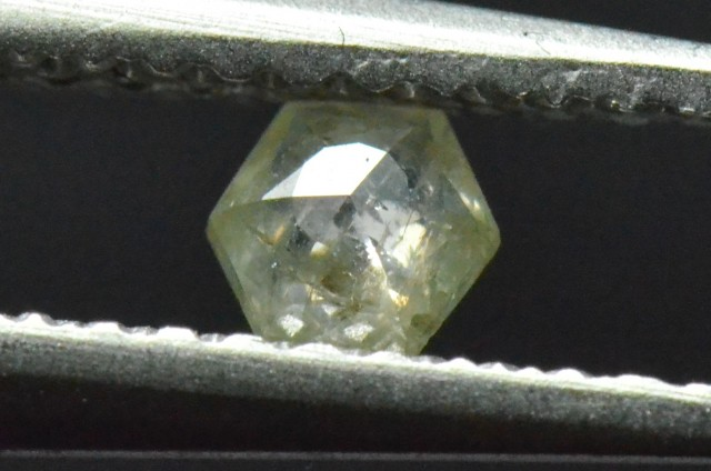 3.7mm 0.18ct Silver White Hexagon rose cut Diamond