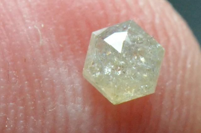 3.75mm 0.20ct  silver White Hexagon rose cut Diamond