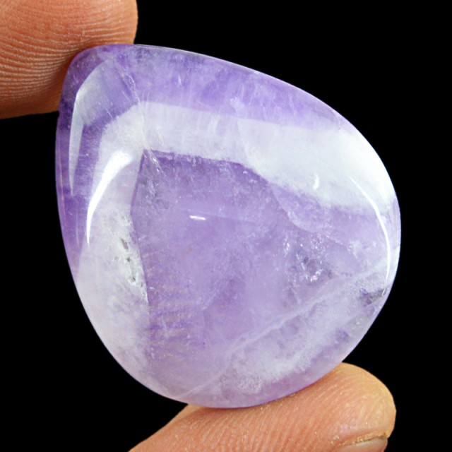 77.00 Cts Untreated Bi-Color Amethyst Cab