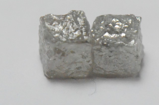 pair 4mm silver grey cube diamonds 1.49ct SPECIAL OFFER