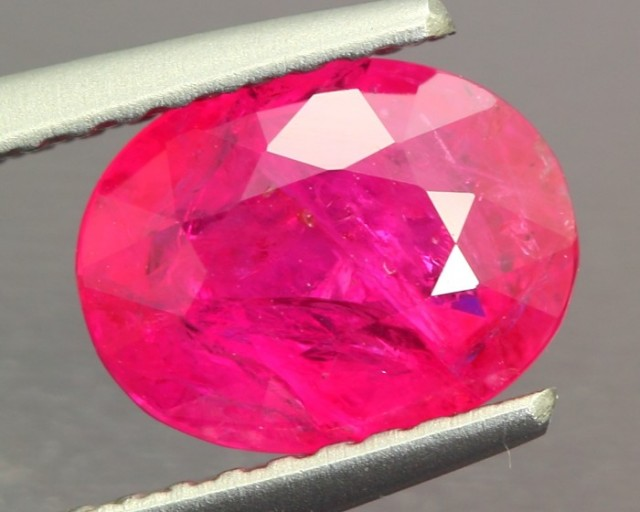 1.83ct Red Ruby Mozambique Oval Cut (no lead glass filling)