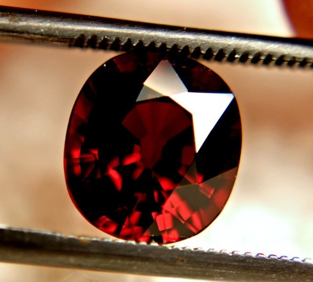 3.04 Carat VVS1 Vibrant Red African Spessartite - Superb