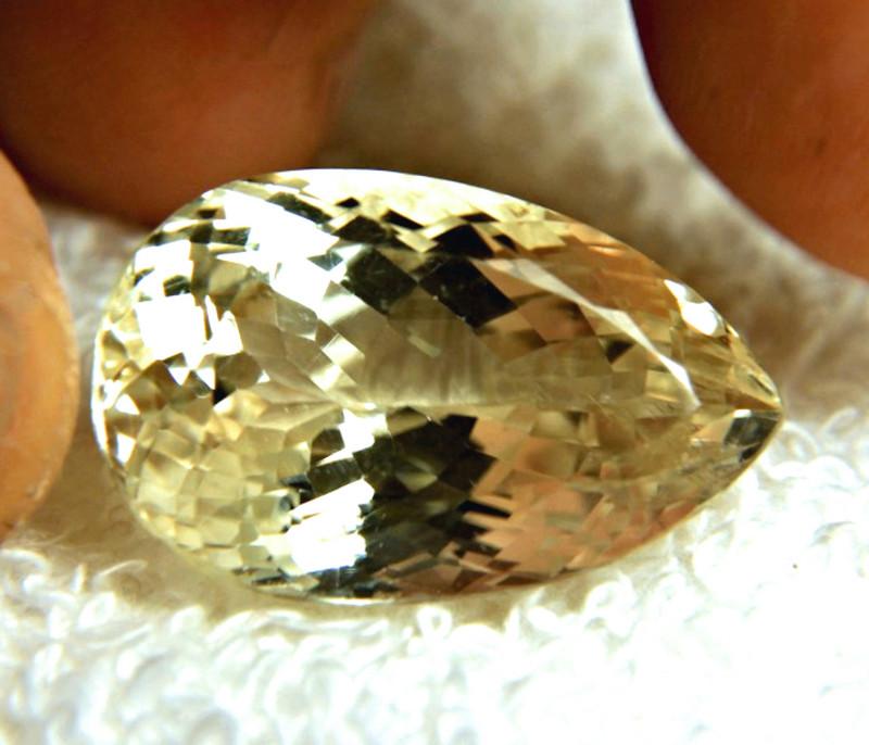 38.28 Carat Shimmering Himalayan Yellow Triphane - Gorgeous