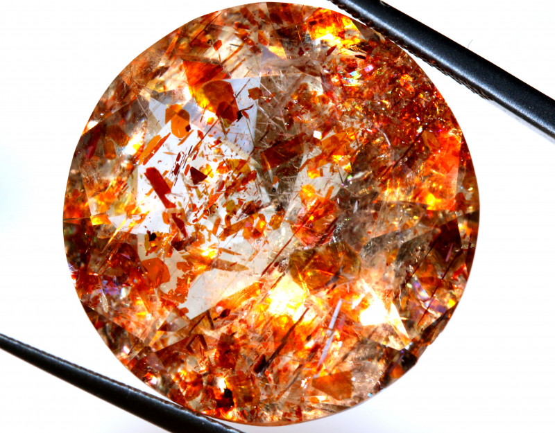 25.18CTS TANZANIA SUNSTONE ROUND FACETED TBM-1138