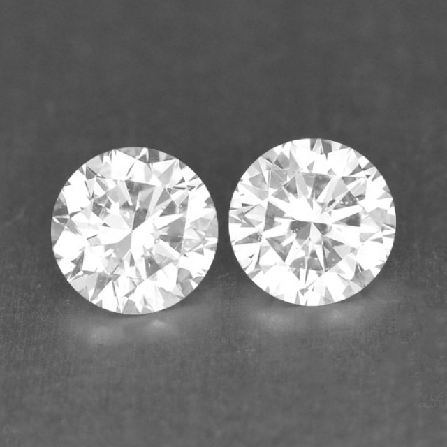 0.29 Cts Natural White Diamond Pair Africa
