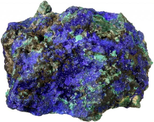 114.50 CTS AZURITE+ MALACHITE  ROUGH -CHINA [F7197]
