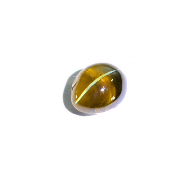 Untreated Certified-1.97Ct Natural Chrysoberyl Cat's eye Honey Colour (0107
