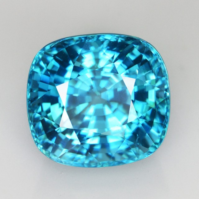 ~BEAUTIFUL~ 10.03 Cts Natural Sparkle Blue Zircon Cushion Cambodia