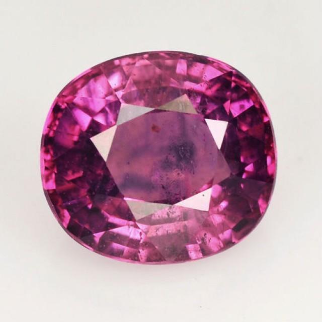 3.38 Cts Natural Corundum Sapphire Purplish Pink Oval Thailand