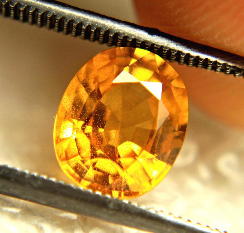 2.40 Carat African Yellow VS/SI Sapphire - Superb