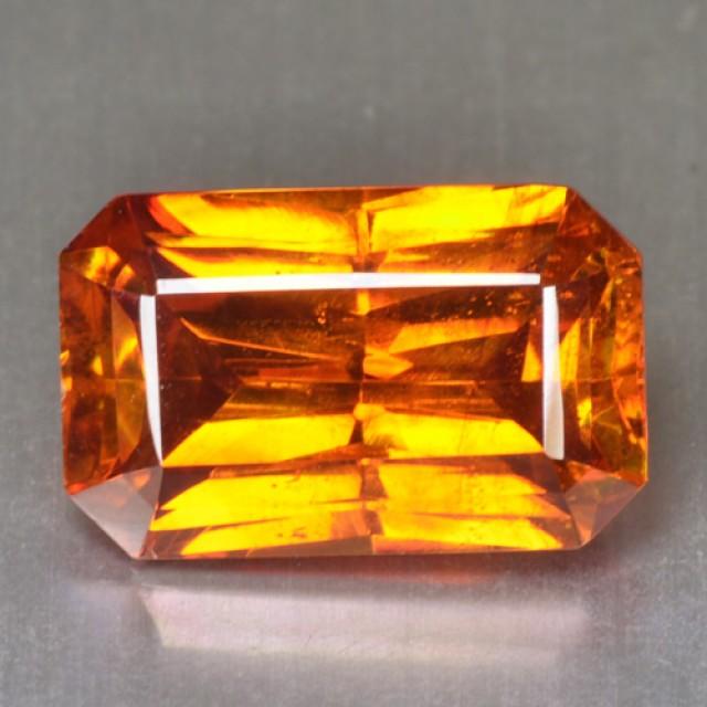 ~RARE~ 8.95 Cts Natural Sphalerite Sunset Orange Octagon Spain